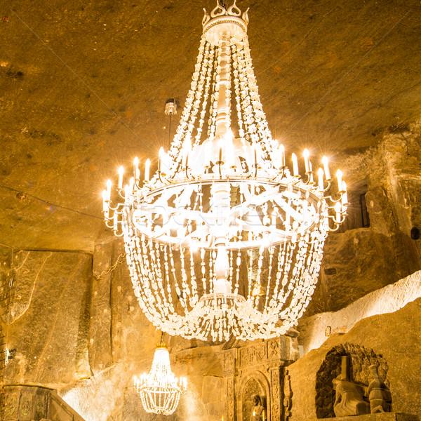 Grande vecchio lampadario principale sala sale Foto d'archivio © vapi