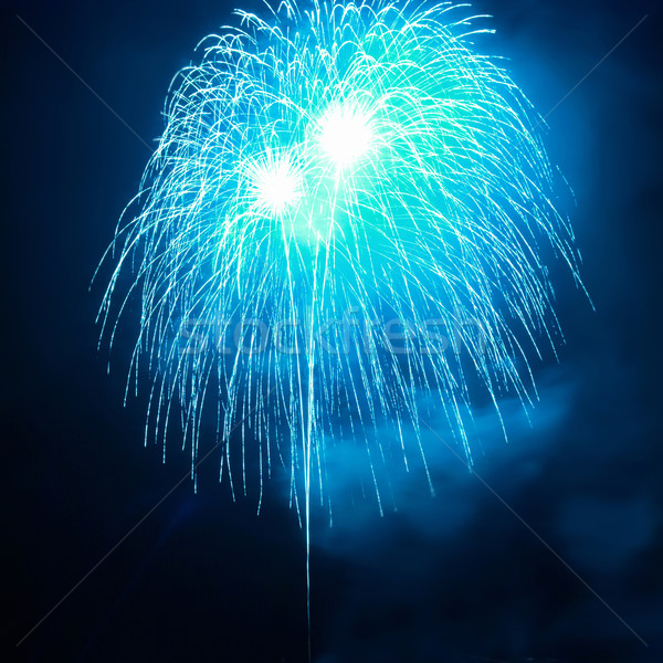 Stock photo: Blue fireworks