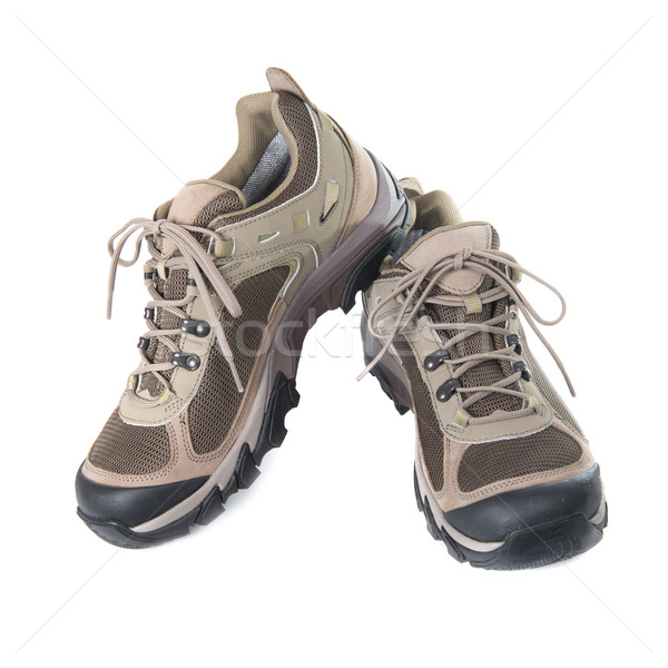Stock photo: Pair of brown trainers