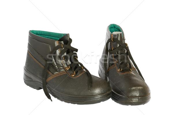 Two black boots isolated on white. Stock photo © vapi