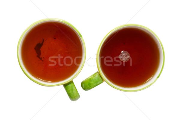 Due tè isolato bianco salute sfondo Foto d'archivio © vapi