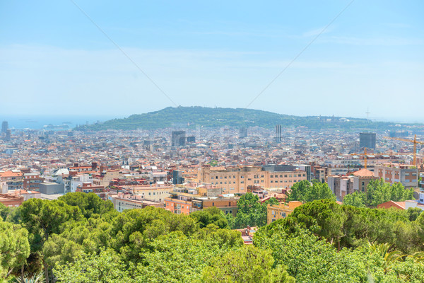 Panoramic view of city of Barcelona Stock photo © vapi