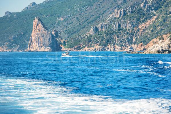 Part kék mediterrán tenger Olaszország kilátás Stock fotó © vapi