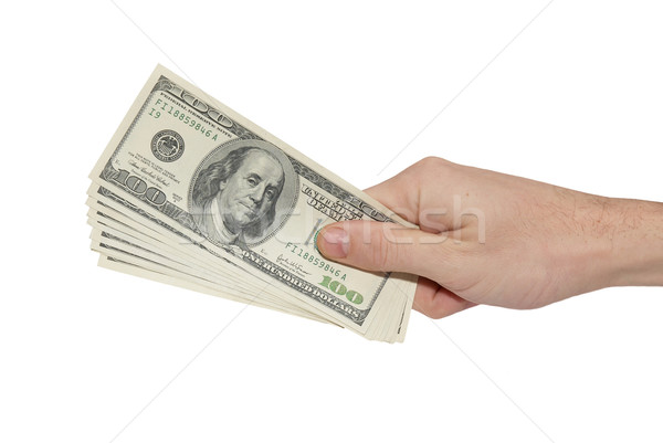 Hand with american dollars Stock photo © vapi