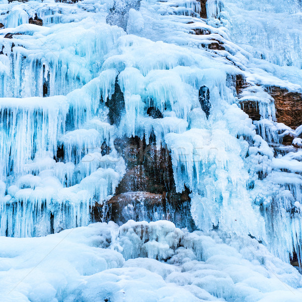 Frozen ice waterfall Stock photo © vapi