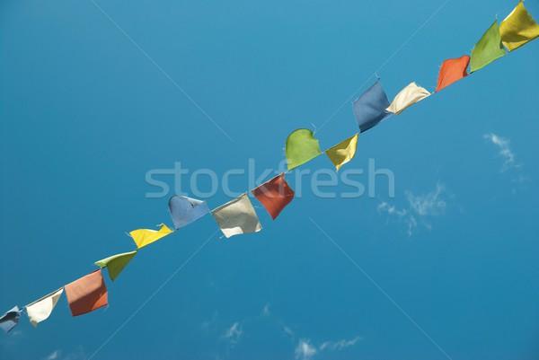 フラグ 祈り カラフル 青空 目 山 ストックフォト © vapi