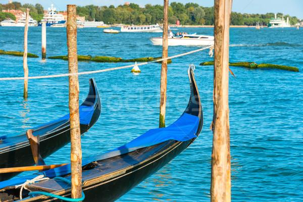 Canal paisaje cielo agua mar barco Foto stock © vapi