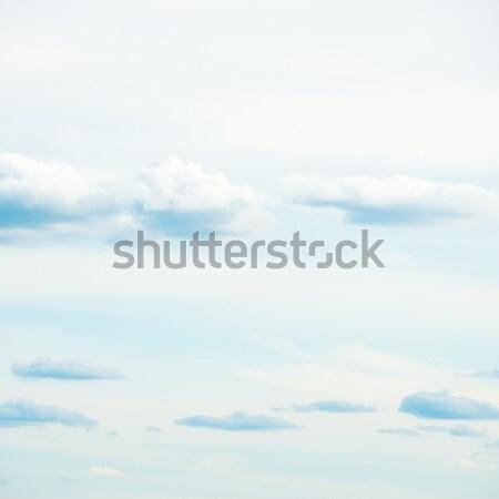 Beyaz bulutlar mavi gökyüzü gökyüzü soyut ışık Stok fotoğraf © vapi