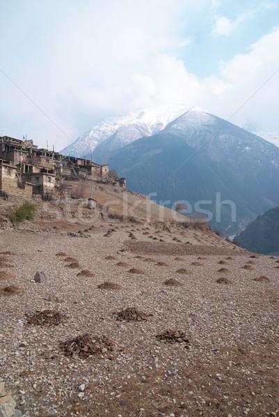 Tibetan mountain's landscape Stock photo © vapi