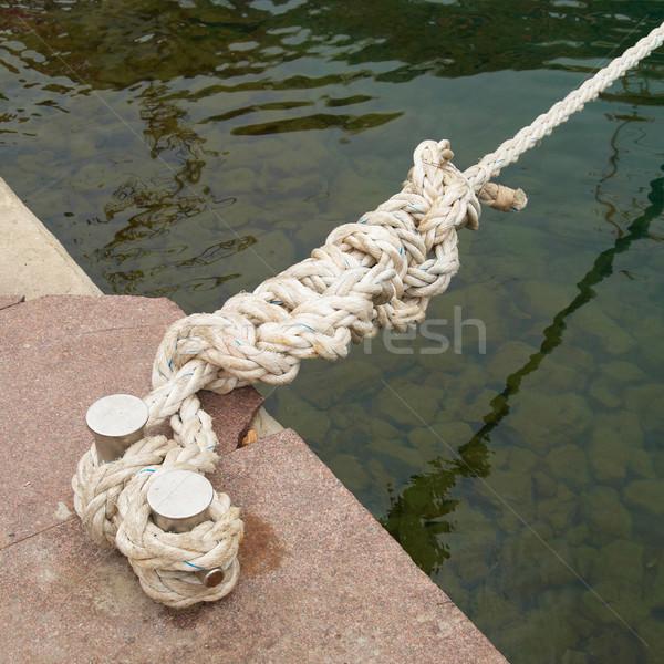 Lovag kötél víz háttér óceán csónak Stock fotó © vapi