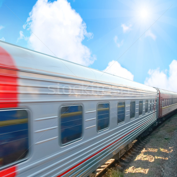 Motion modern railway train Stock photo © vapi