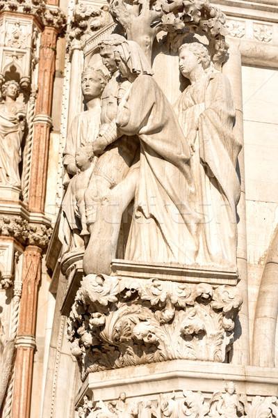 Marble statue at San Marco Piazza Stock photo © vapi
