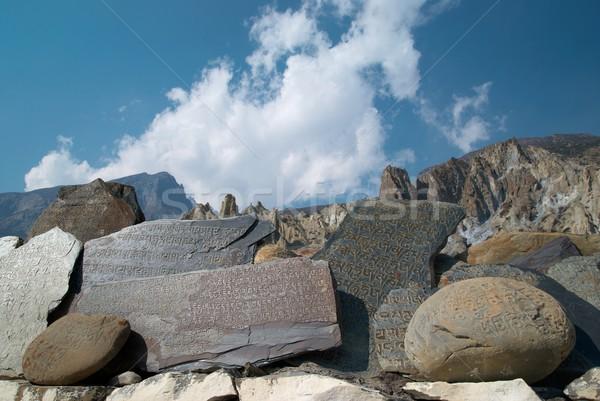 Tibetan prayer stones Stock photo © vapi