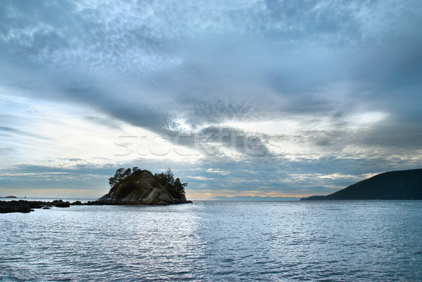 Ilha mar costa norte Vancouver céu Foto stock © vapi
