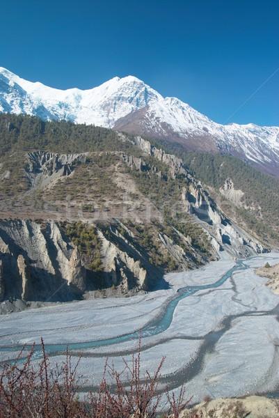 Rivière tibet eau herbe forêt Photo stock © vapi