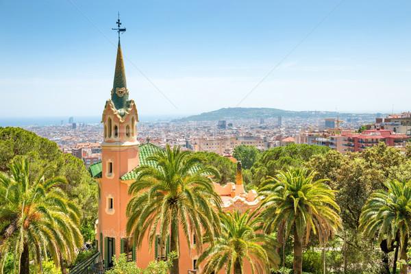 Museum of Antoni Gaudi in park Guell Stock photo © vapi