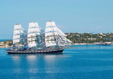 Velero mar arma barco buque retro Foto stock © vapi