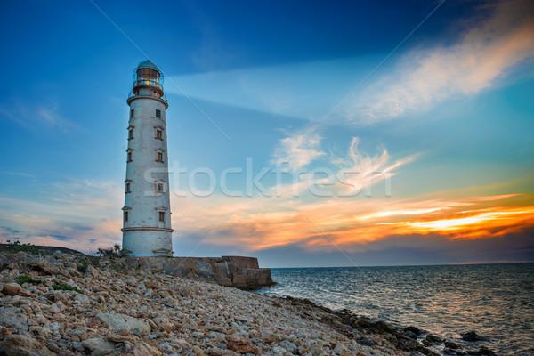 Lighthouse at night Stock photo © vapi