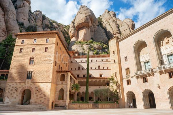 Klasztor Barcelona Hiszpania Święty mikołaj opactwo górskich Zdjęcia stock © vapi