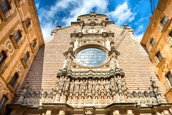 Exterior of Montserrat Benedictine monastery Stock photo © vapi