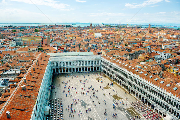 San Marco square from bell tower Stock photo © vapi