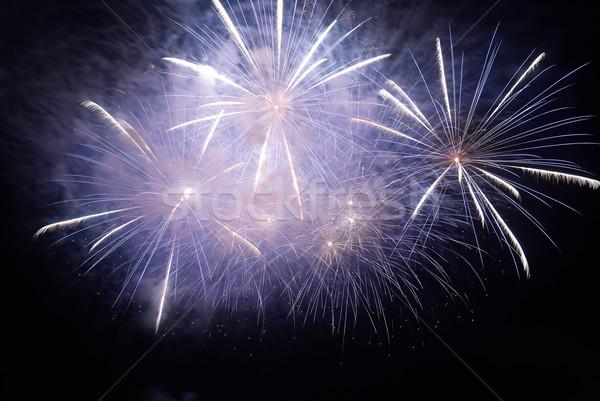 Colorido férias fogos de artifício preto céu feliz Foto stock © vapi