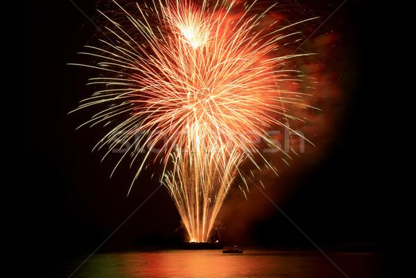 Stock photo: Fireworks, salute