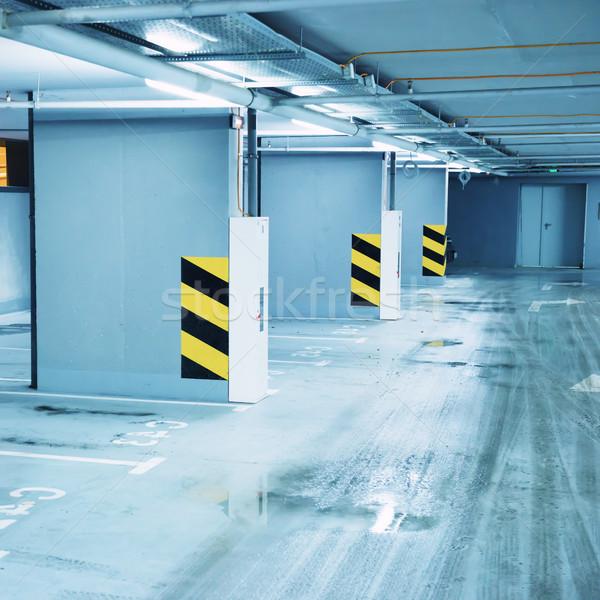 пусто подземных стоянки бизнеса автомобилей торговых Сток-фото © vapi