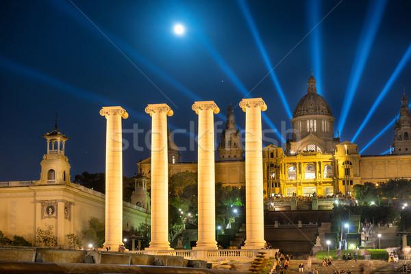 Barcelona noche luna luz museo arte Foto stock © vapi