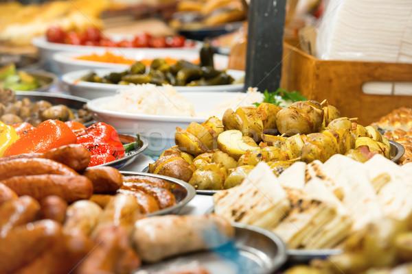 Comida rua tradicional legumes Foto stock © vapi