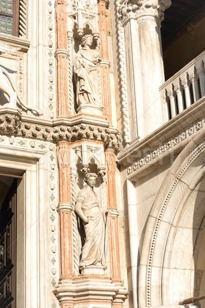 Arquitetura detalhes escultura Veneza Itália edifício Foto stock © vapi