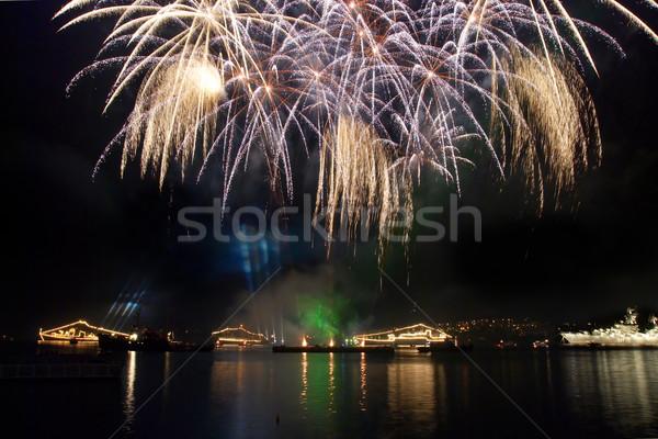 Salute above the bay. Sevastopol. Stock photo © vapi