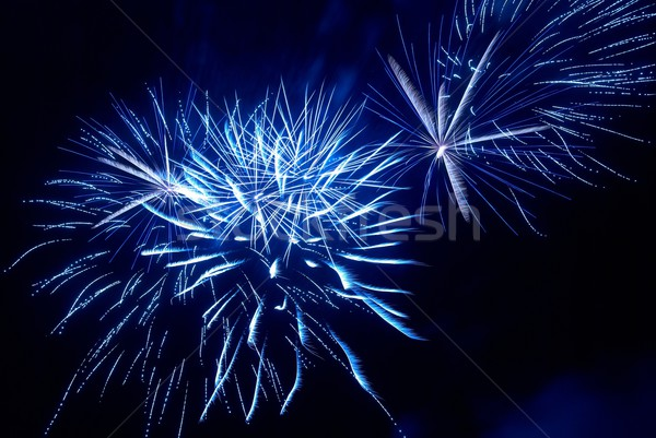 Színes tűzijáték fekete égbolt víz boldog Stock fotó © vapi