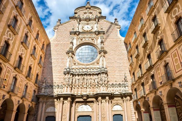 Dış manastır Barcelona gökyüzü şehir duvar Stok fotoğraf © vapi