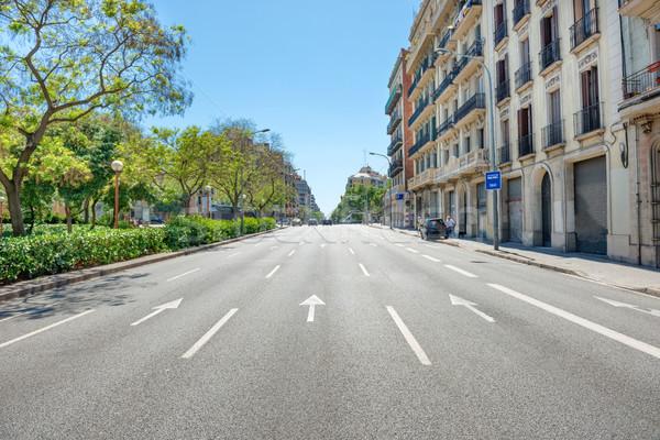Route rue de la ville cityscape urbaine trafic Barcelone Photo stock © vapi