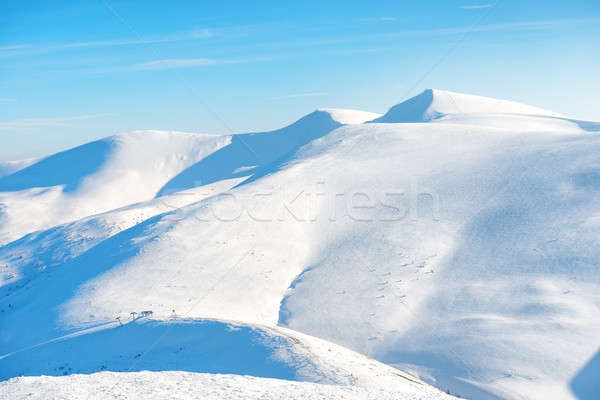 Beautiful winter mountains with snow Stock photo © vapi