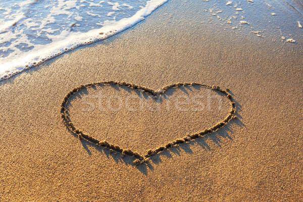Heart on the sand Stock photo © vapi