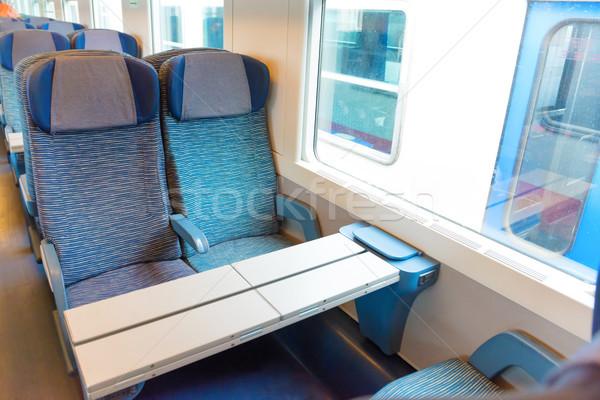 современных поезд класс европейский бизнеса свет Сток-фото © vapi