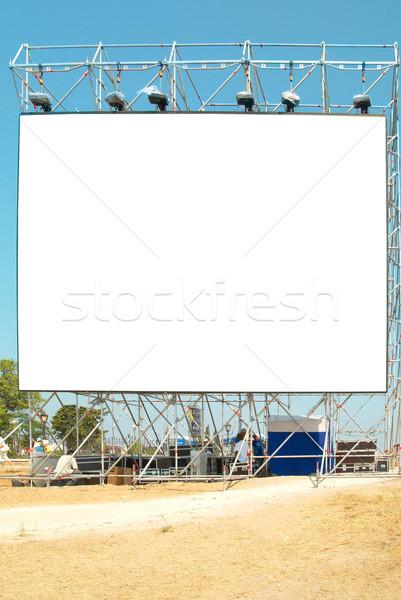 Boş ilan panosu mavi gökyüzü yol televizyon uzay Stok fotoğraf © vapi