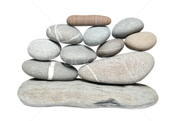 Wall of pebbles Stock photo © vapi