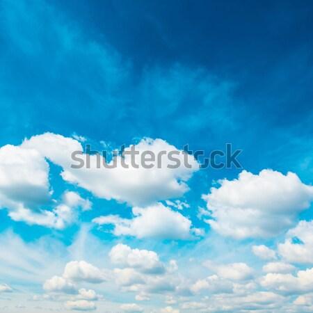 Branco fofo nuvens blue sky natureza céu Foto stock © vapi