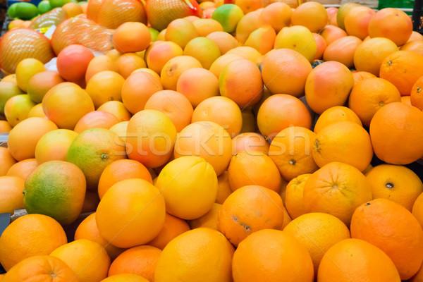 Vers sinaasappelen voedsel vruchten achtergrond Stockfoto © vapi