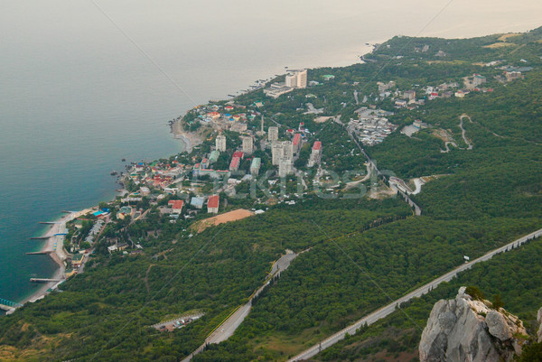 Widok z góry miasta wody oka miasta charakter Zdjęcia stock © vapi
