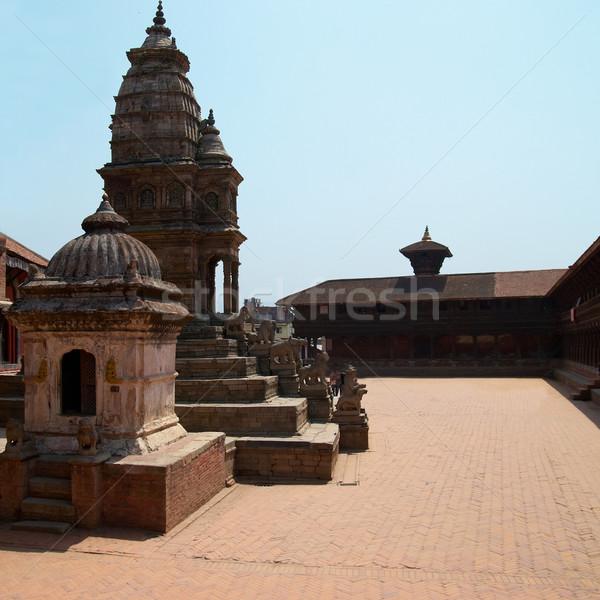 Templo cidade Nepal velho casa edifício Foto stock © vapi