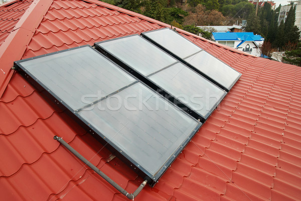 Solar water heating system. Stock photo © vapi