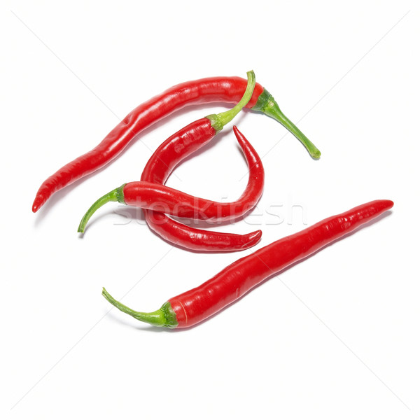 Stack of red hot chili peppers Stock photo © vapi