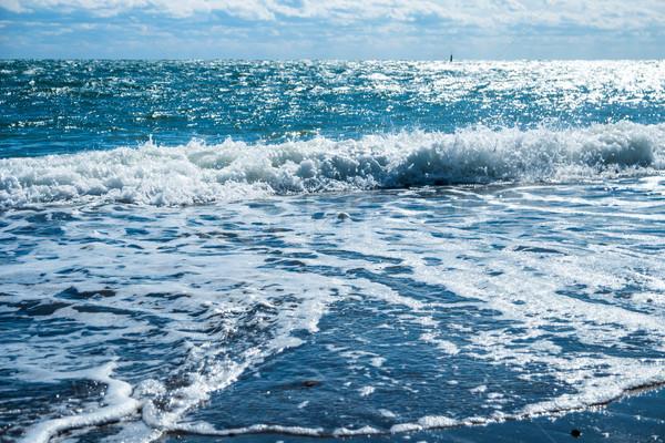 Kék tenger tengerpart arany homok nyári vakáció Stock fotó © vapi