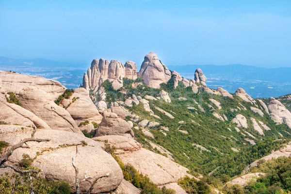 Landscape of mountain Montserrat Stock photo © vapi