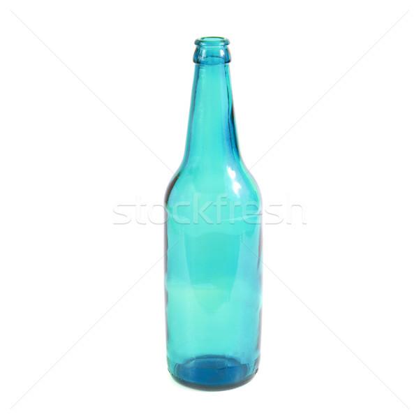 Zdjęcia stock: Niebieski · butelki · odizolowany · biały · strony · wina
