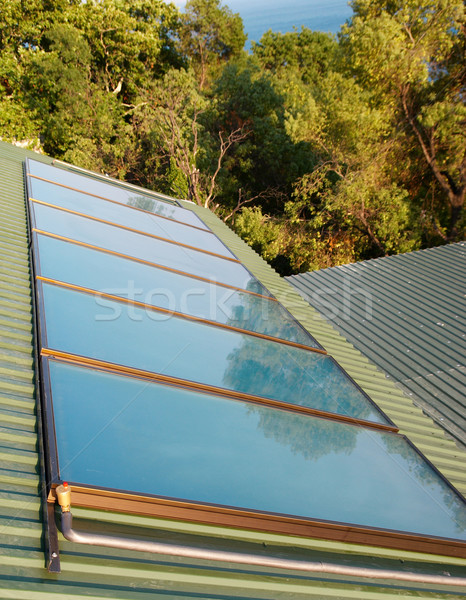 Solar panels (geliosystem) on the house roof. Stock photo © vapi